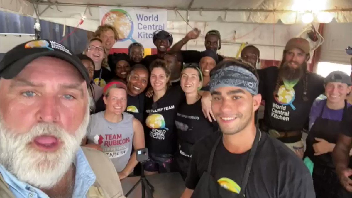 """BIG news... Today @WCKitchen served our 1 Millionth Meal in Bahamas thanks to many, many hands...Chefs, volunteers, businesses, partners + YOU. A moment to celebrate & then get back to work! Still lots to do as we go from relief """"phase"""" to communities rebuilding. #ChefsForBahamas"""