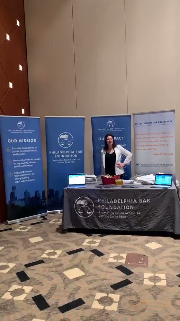 We're at @PhilaBar Bench Bar 2019!! Come stop by to say hi 👋🏼 and learn more about the Foundation and @PhilaEJC