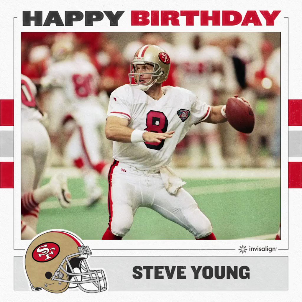 Forever Young. Happy birthday to #49ers great Steve Young!