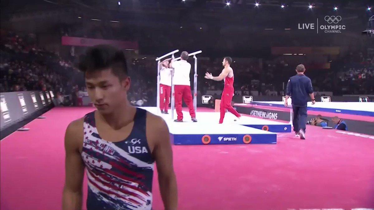 "U.S. Gymnast Throws ""Horns Down"" At World Championships"