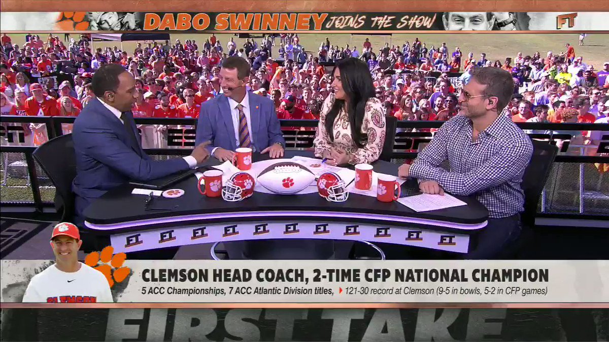 Dabo Swinney made Stephen A. Smith crack by impersonating him