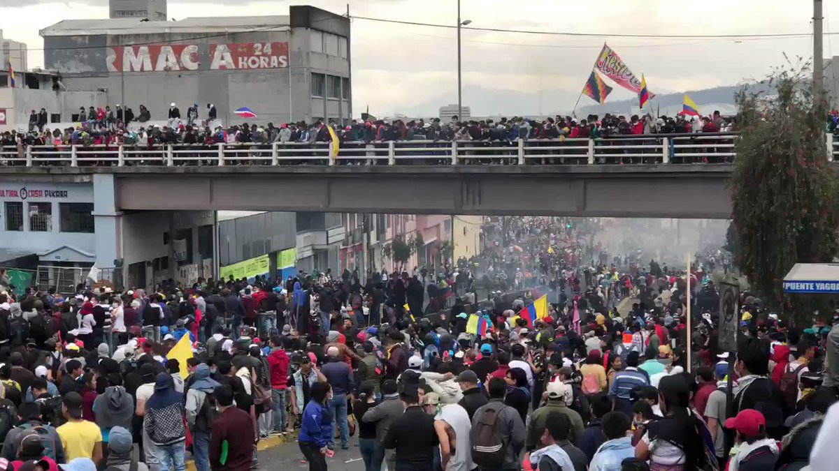 Ecuador's National Assembly. Yesterday protesters took over the building, after the President fled the city and moved the capital out of Quito. This is bordering on a revolution. Why isn't our media covering it?