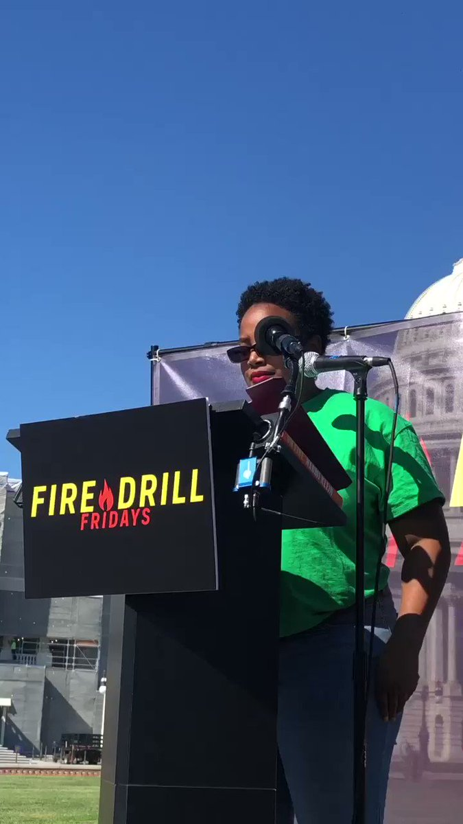 """Climate change is hurting black and brown communities first and worst."" @GreenKerene speaking truth to power at #firedrillfriday @weact4ej"