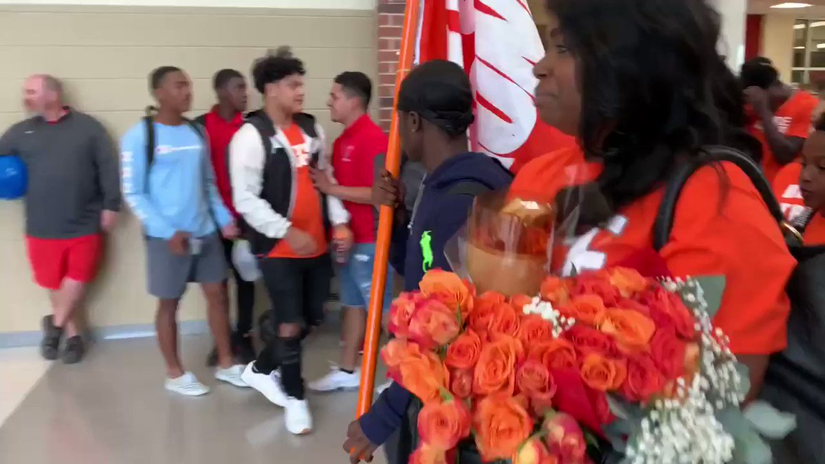 Watch This High School Football Player Get EPIC Send Off As He Battles Cancer For Second Time