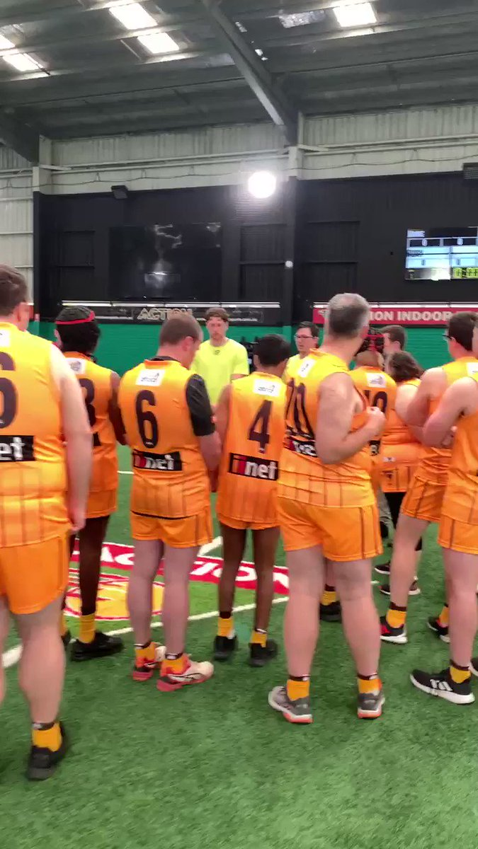 Image for the Tweet beginning: Our AFL Blind team ready