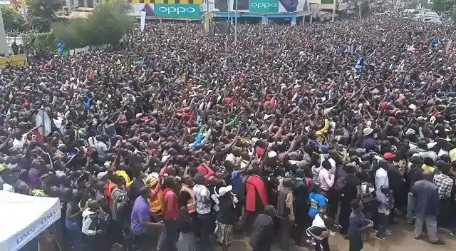 Meanwhile in Eldoret, Kenya, this is how they celebrated @EliudKipchoge becoming the first man to run a sub two-hour marathon. 🇰🇪🙌 #INEOS159 #NoHumanIsLimited