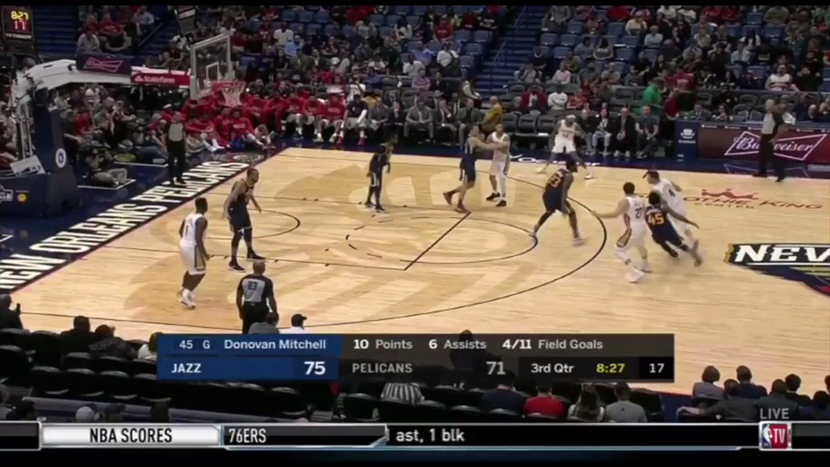 So much of Zions success last night against the Jazz came while playing center, which Ive long argued is his most advantageous position. Mismatch nightmare even against the leagues best defensive anchors. Hope to see a lot of Center Zion this season. espn.com/video/clip/_/i…
