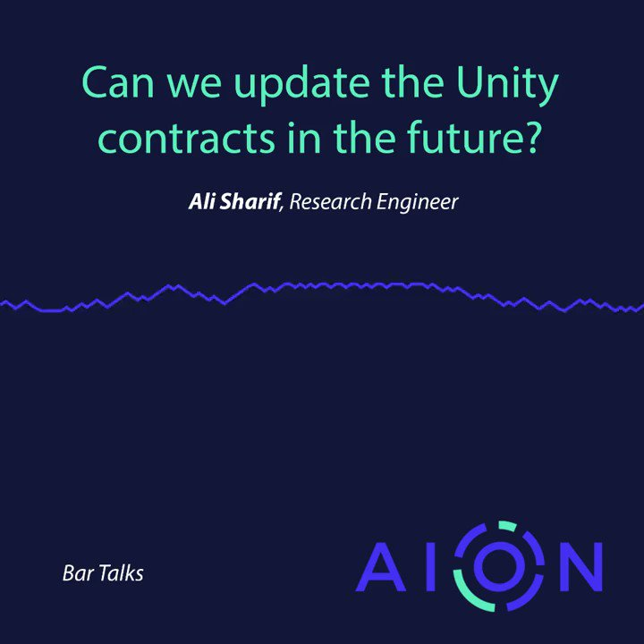 """Image for the Tweet beginning: """"Can we update $AION Staking"""