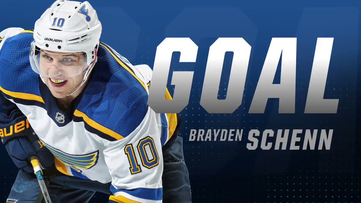 BLUES GOAL!!! Brayden Schenn scores for the fourth consecutive game and we're tied 1-1. #stlblues