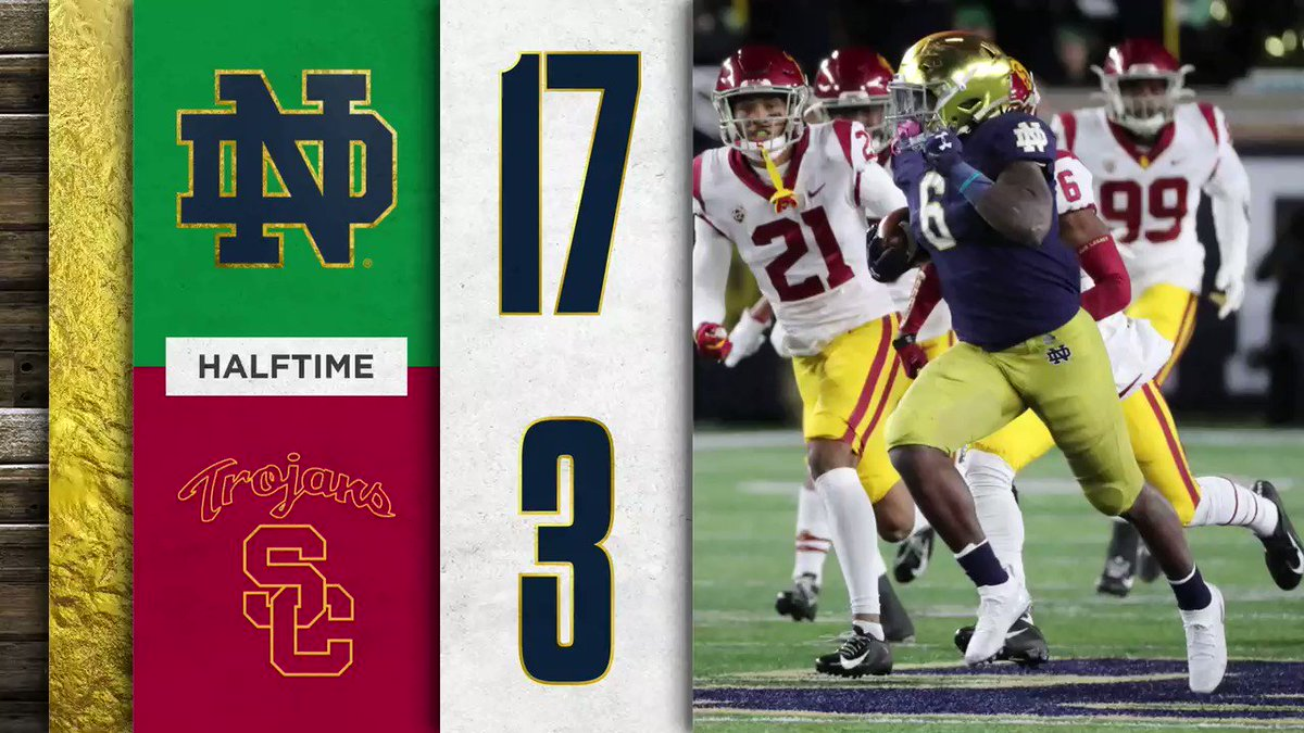 Taking care of business with 30 minutes to play.  #GoIrish ☘️ #USCvsND