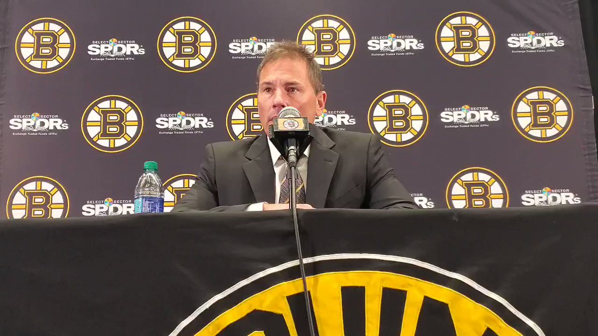 FAST START: Bruce Cassidy credits fast start for playing big role in 3-0 win. #nhlbruins