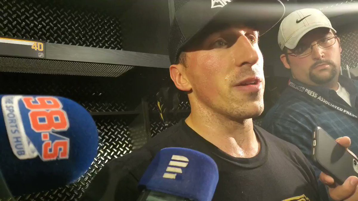 MARCHAND MAGIC: Asked Brad Marchand about the fast start that he fueled in 3-0 #NHLBruins win: