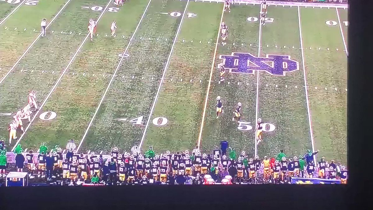 The Refs Missed A Blatant Penalty On Brian Kelly Late vs. USC