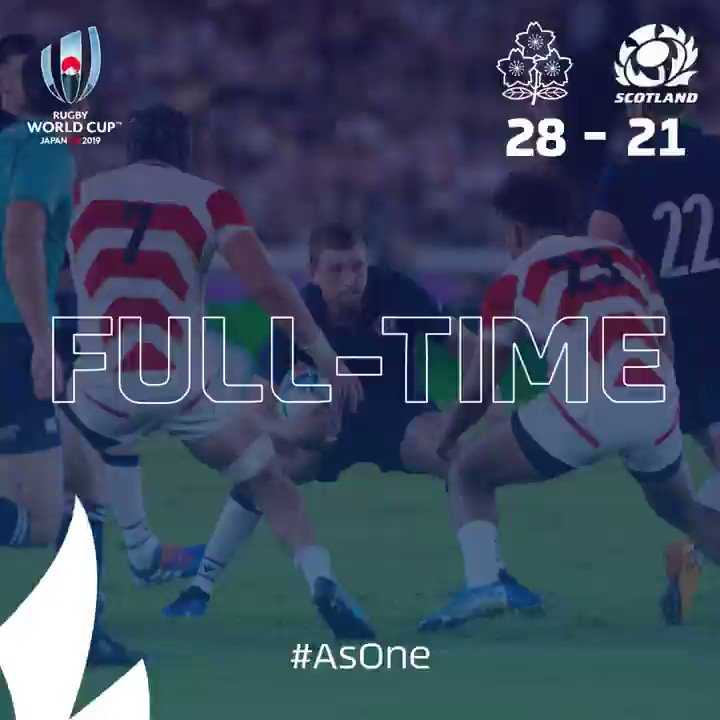 FULL TIME | Its all over in Yokohama as the hosts progress to the Quarter Finals. Congratulations to Japan on their win. #JPNvSCO #AsOne
