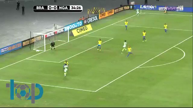 👌 A brilliant goal by @J_Aribo19 for @NGSuperEagles against Brazil.