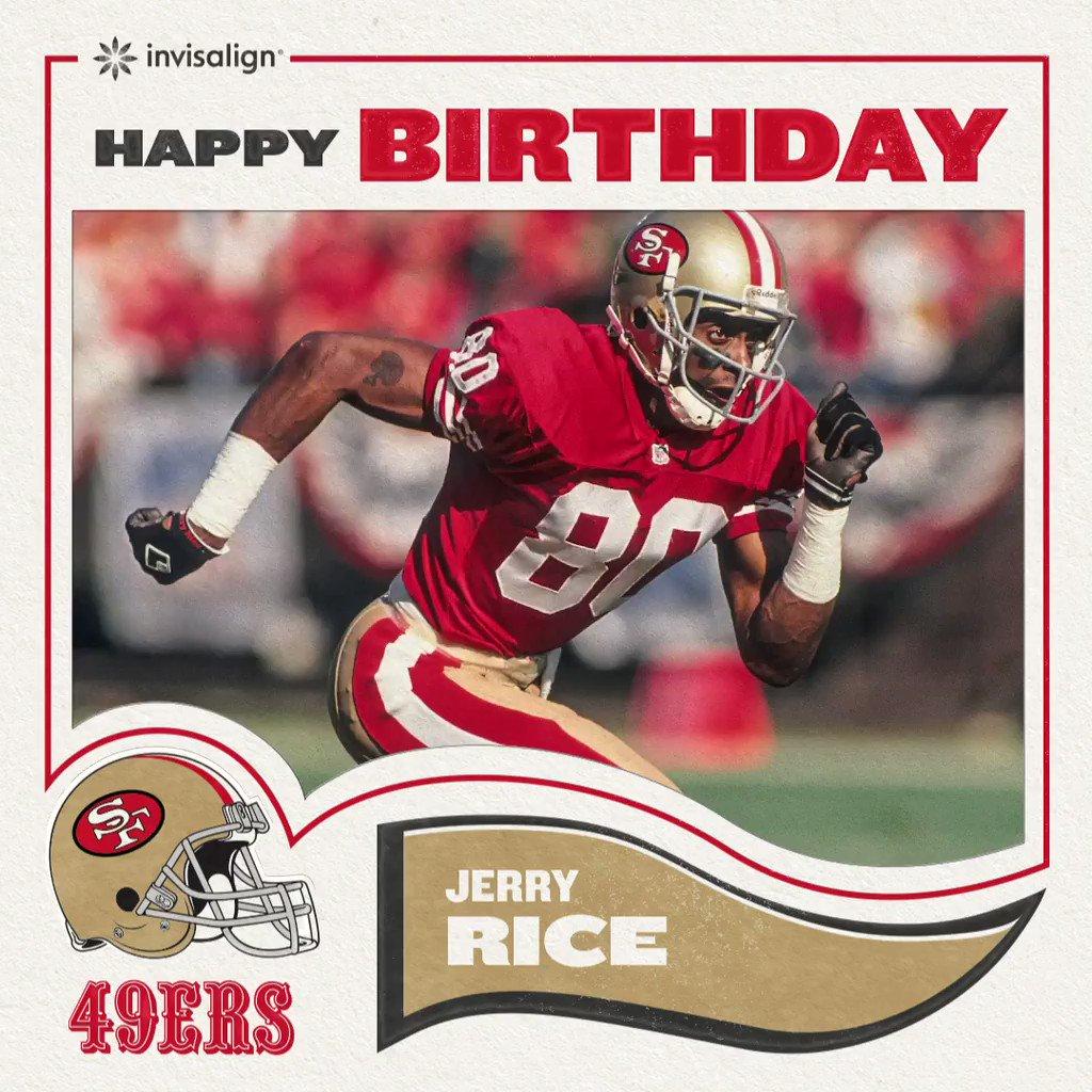 Happy birthday to the #GOAT @JerryRice! 🐐