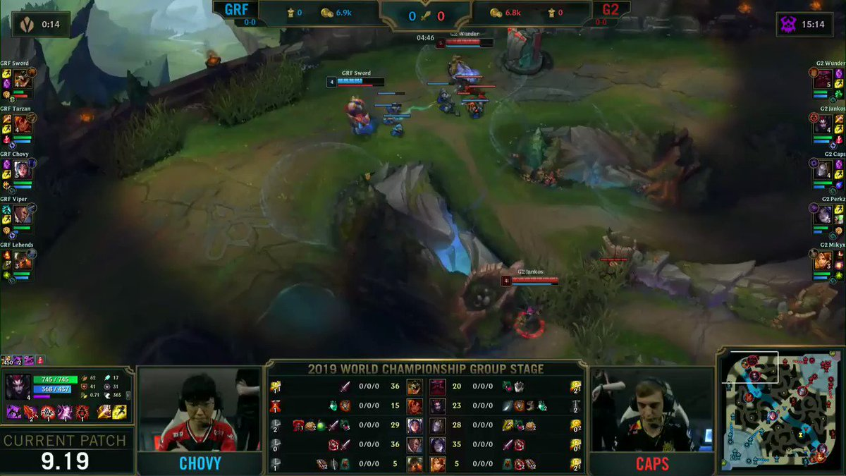 WE DRAW FIRST BLOOD! #Worlds2019 🔴 twitch.tv/riotgames