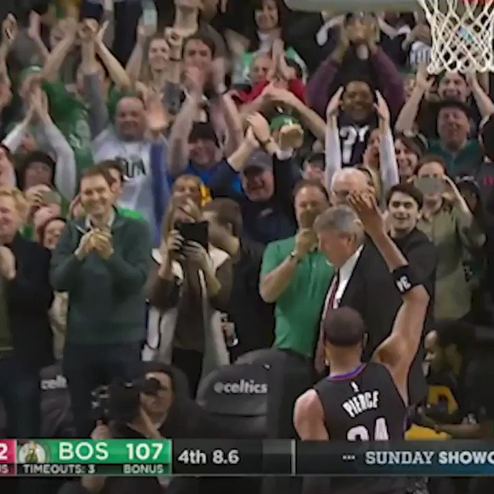 You know Pierce had to check in and hit one last 3 in the Garden 🍀