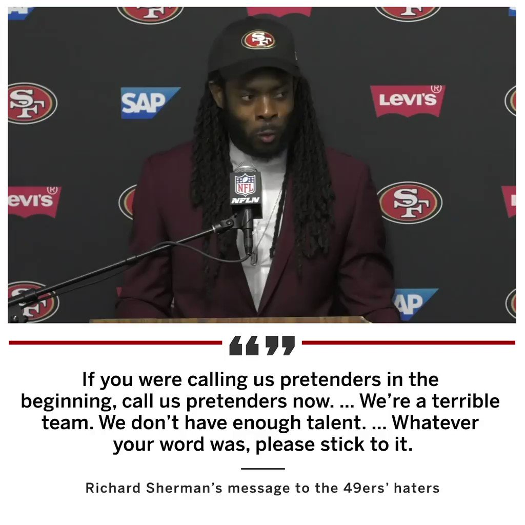 Richard Sherman asks the 49ers' doubters to please stick to their word.