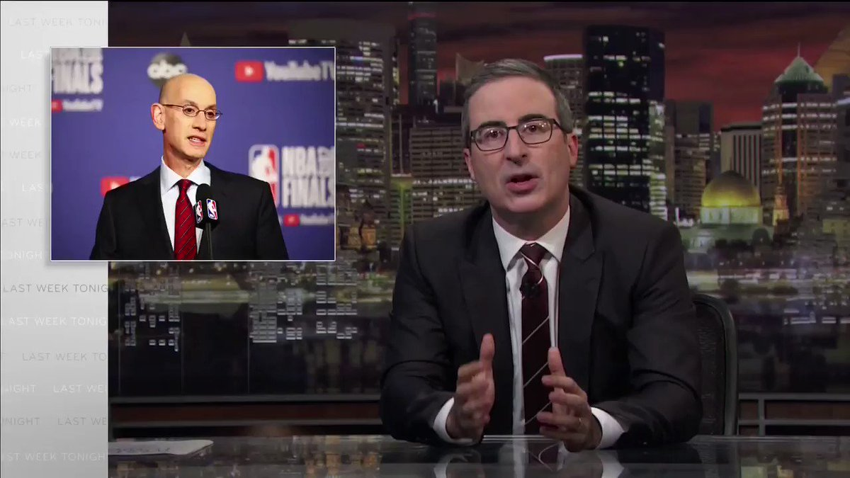 NBA-China: John Oliver described Stephen A. Smith on Last Week Tonight