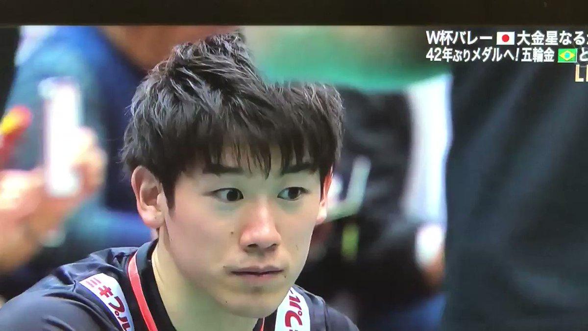 石川くんだだだだだ大丈夫ですか?一点をみつめておられる#ワールドカップバレー