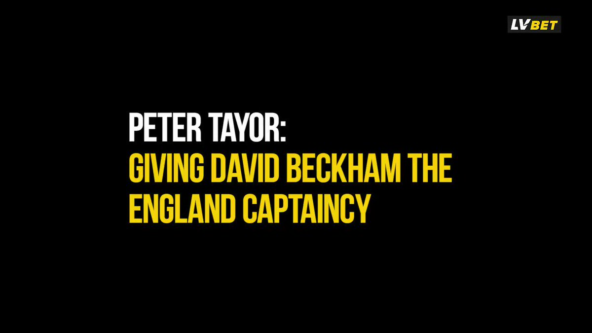 He needed to be rewarded. @Dag_RedFC manager Peter Taylor tells us exactly why he handed David Beckham the England captaincy, 10 years after he played his final game for his country...