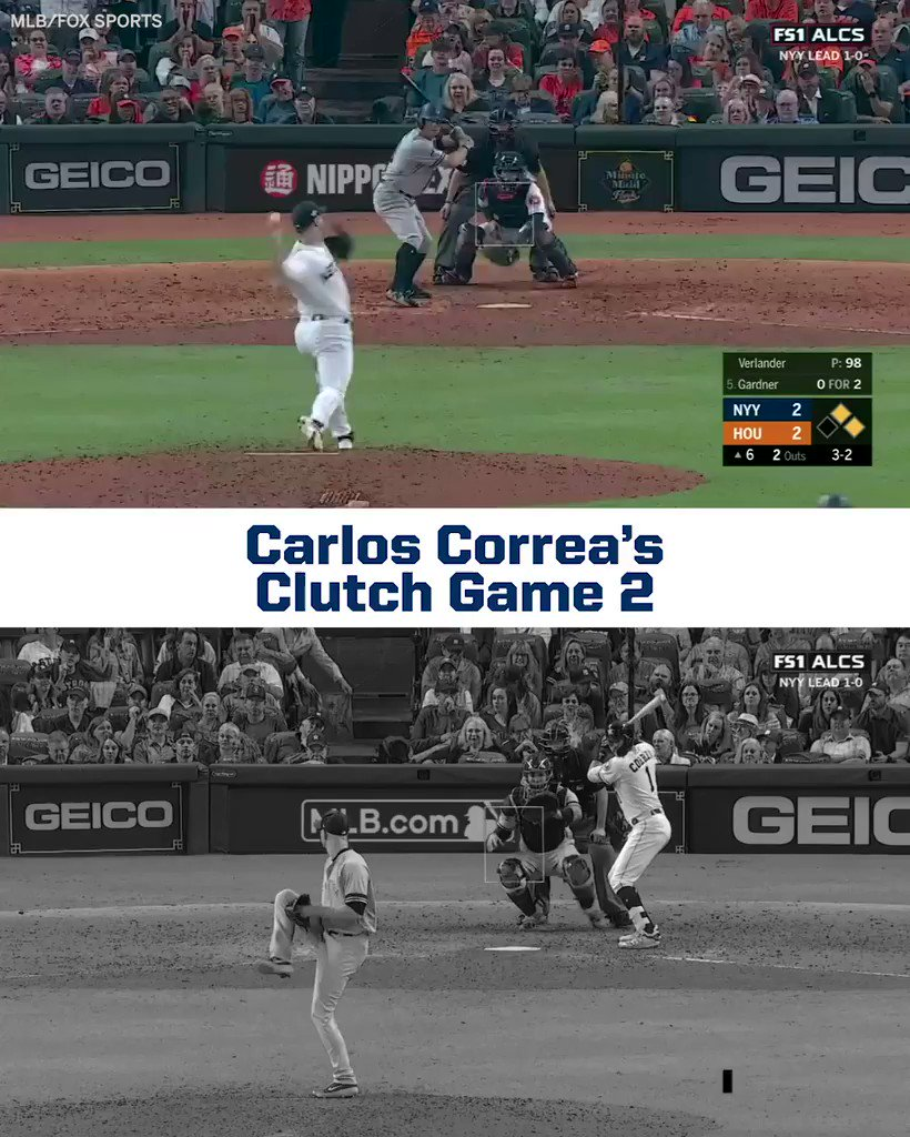 From a run-saving throw in the 6th to the walk-off homer in extras, Carlos Correa was CLUTCH in Game 2 😤