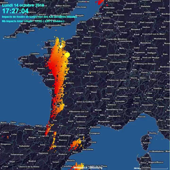 Meteociel على تويتر La Ligne Dorages Sétend