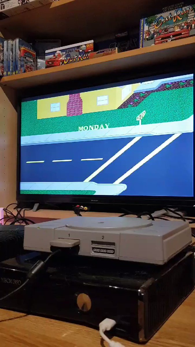 Paperboy on the PlayStation 1 😀#RETROGAMING #retrogames