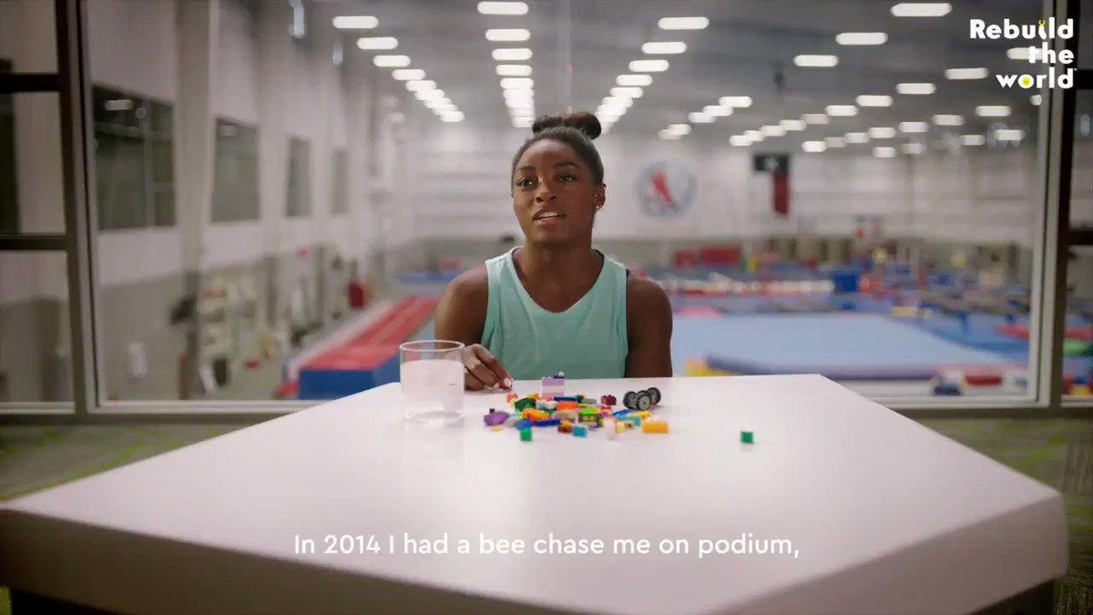 Even a superhuman athlete needs the power of creativity 🔥 #RebuildTheWorld @Simone_Biles