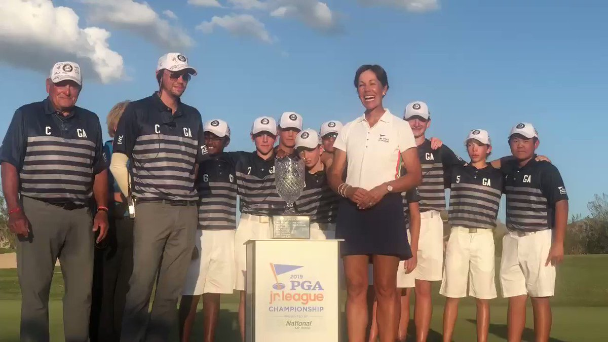 Image for the Tweet beginning: .@pga President @suzywhaley presents the