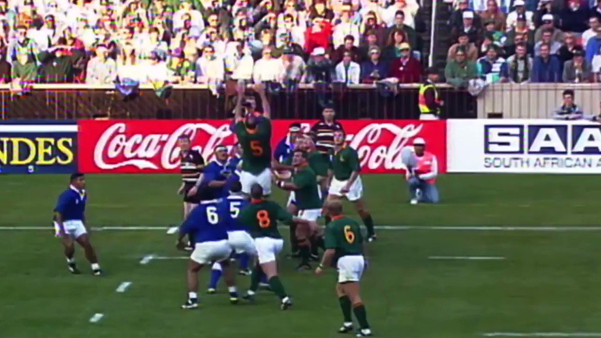 A throwback to the #RWC1995 quarter-finals when the Springboks crushed Samoa with a 42-14 win at Ellis Park Chester Williams scored four tries – a Springbok record at that stage. Whats your score prediction for the #RSAvJAP in the 2019 quarter-finals?
