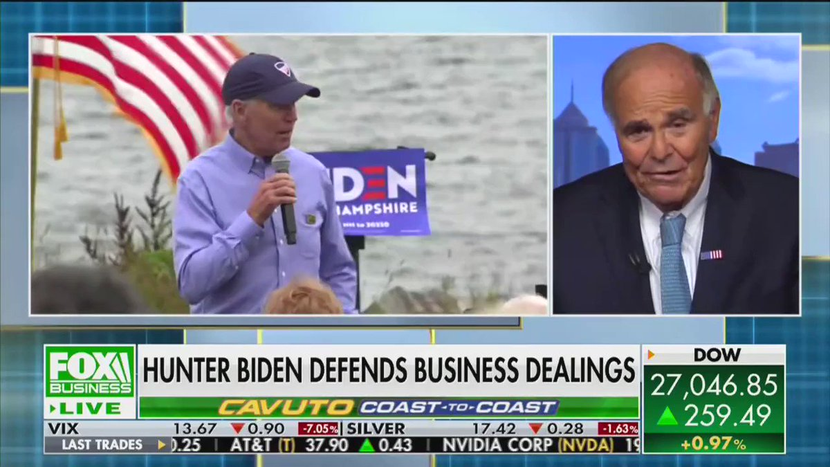 """Ed Rendell a vocal Biden supporter on Hunter's overseas business dealings:   """"I think Joe should acknowledge that it probably didn't have a good appearance, for his son to be working for a company...At the same time, he was over there making decisions about the Ukraine."""""""