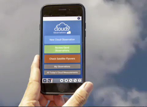 Its the first day of our Fall Cloud Challenge☁️! Were asking citizen scientists to take out their phones and report what kinds of clouds they see from October 15 to November 15 using the @GLOBEProgram Observer app. Join the challenge: go.nasa.gov/2owTGGl