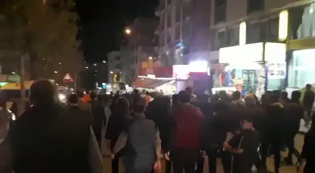 Now in Istanbul itself: People are protesting Turkey's attack on the Kurdish people.