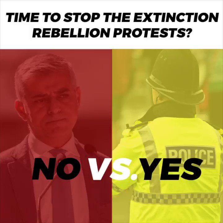 Enough is enough. The Extinction Rebellion has disrupted Londoners lives for nine days, wasted police time, and cost our city at least £16 million 🚨 ✋👮‍♂️The police have made the right decision to stop the protests. Why doesnt the Mayor agree? 🧐