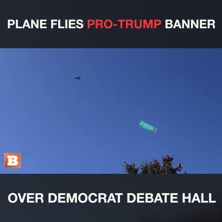 Flying above the location of tonights Democrat Debate: