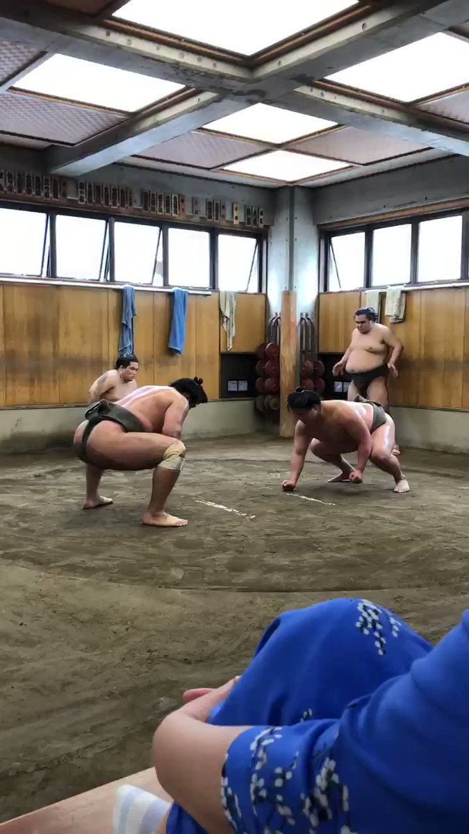Morning #Sumo practice in Tokyo.  So far, Japan is delivering on every front.   #bucketlist