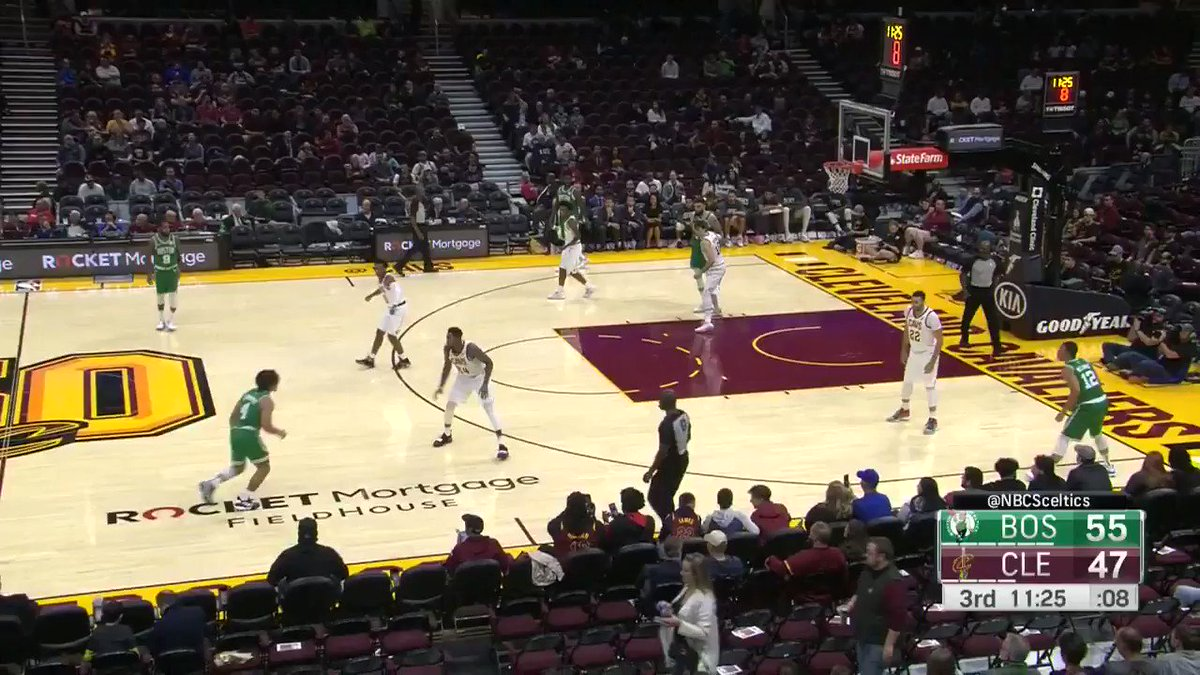 WATCH: Carsen Edwards lights up the Cavs from beyond the arc
