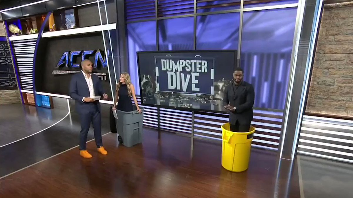 Double the dumpster divers means double the trash talk on #AllACC 🚮🤣 🔘 @jonbeason ⚪️ @jordancornette 🔘 @kelseyriggs