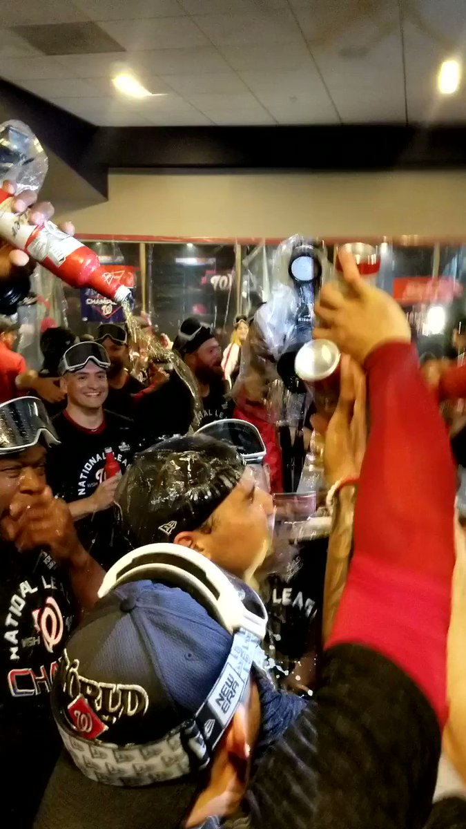 How the Nationals celebrated Washington's first World Series berth in 86 years