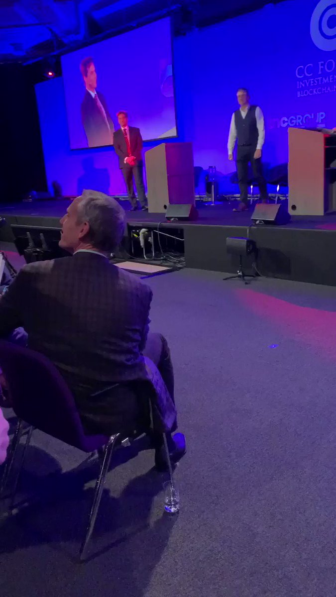 🙈 Tired of all the noise? Download our free Community app & play forecasting #bitcoinprice: https://t.co/n5Yimx94zc   Explosive 💣💥panel where @ToneVays & others in the audience question Craig Wright & he fights back at #CCForum in #London  #crypto #blockchain #Bitcoin #Btc