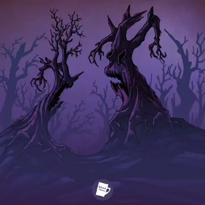 Scary trees... Scary weather...  #animation #AfterEffects