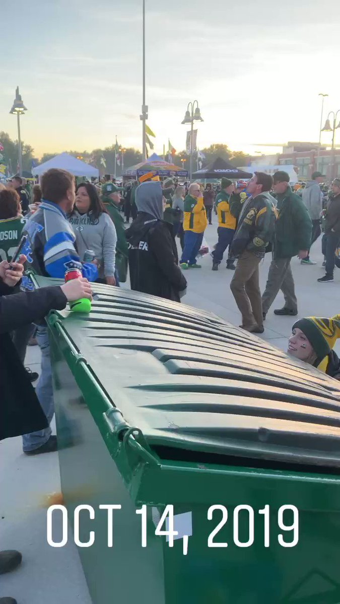 Packers fans are now cancelled after footage of girl drinking from dumpster surfaces from Monday