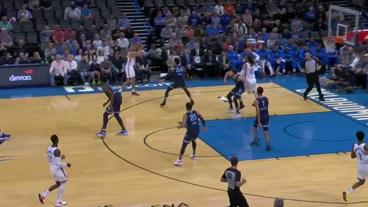 Steven with the quickness. #ThunderUp