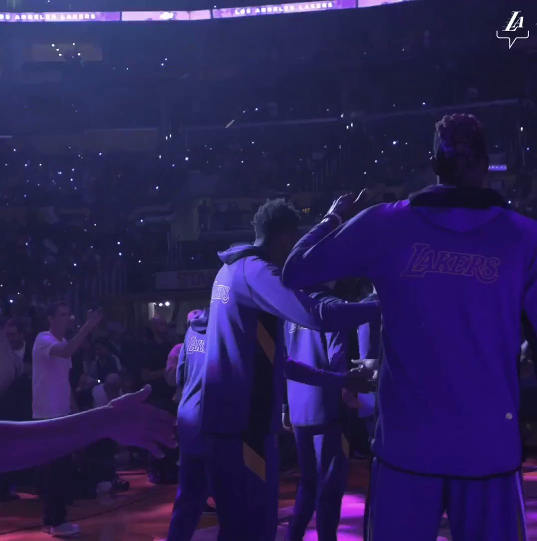 """For the first time at @STAPLESCenter: """"No. 3. 6'10. 8th year from Kentucky."""""""