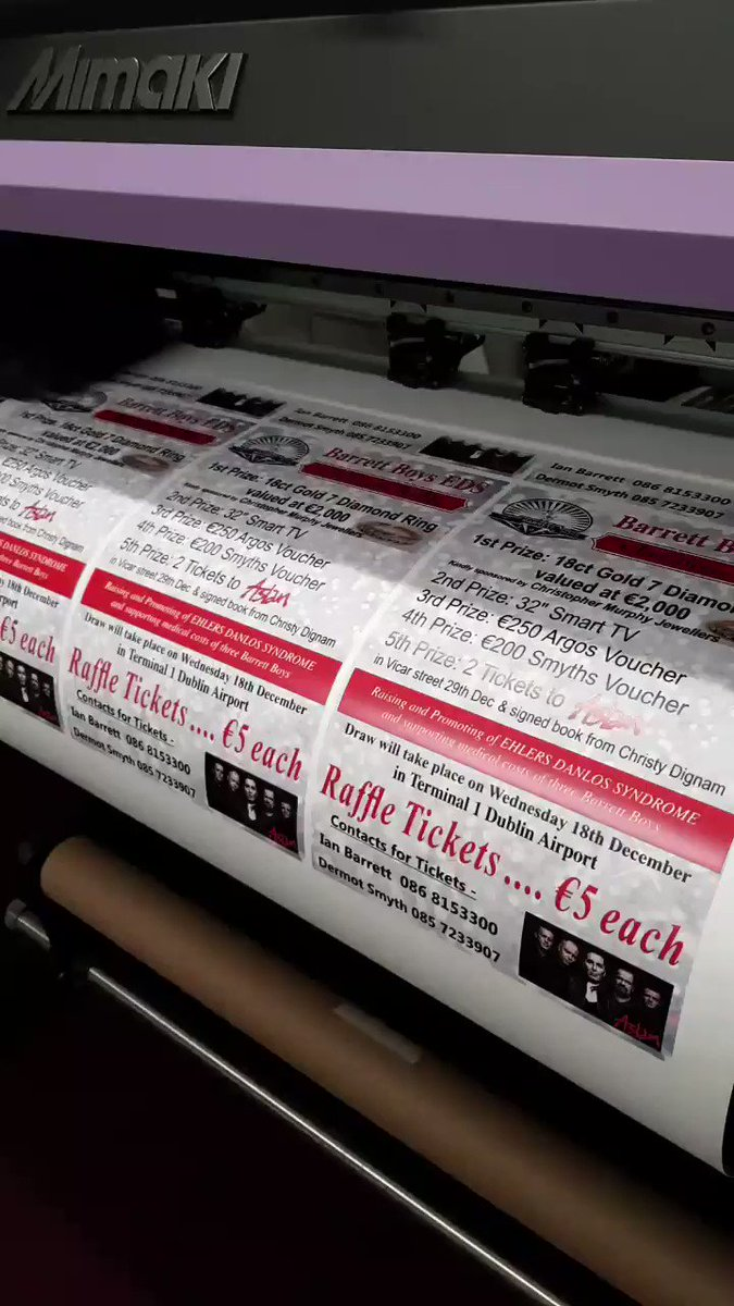 Image for the Tweet beginning: Busy today printing posters for