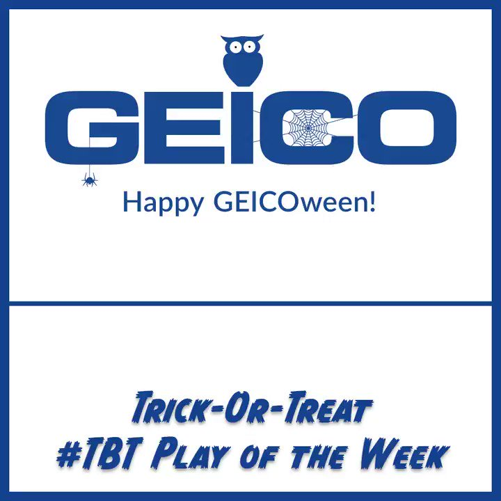 This week's @GEICO Trick-Or-Treat #TBT Play of the Week is @GeorgiaTechFB's fake field goal TD pass in a win over Clemson in 2009 🐝 #GEICOween