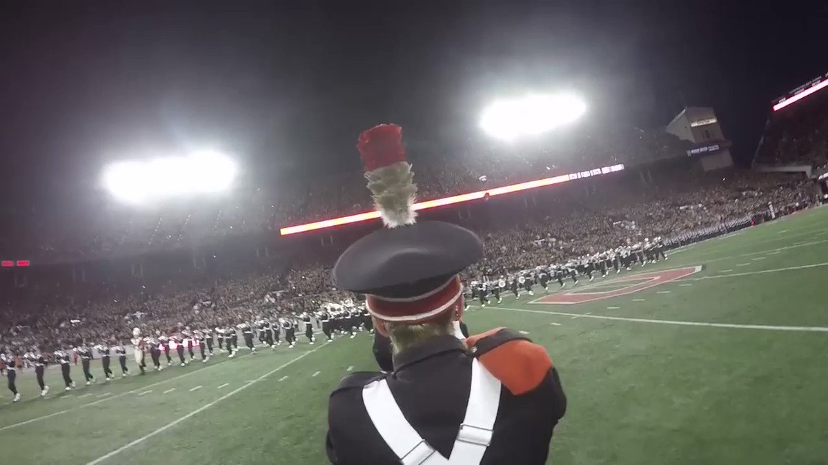 Script Ohio from @AdamBrott1's perspective. It's like you're dotting the i yourself. #GoBucks