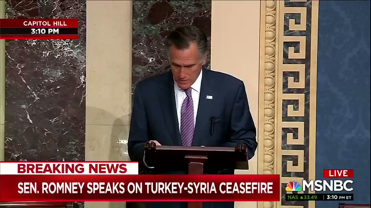"""Are we so weak and so inept diplomatically that Turkey forced the hand of the United States of America? Turkey?!?"" - Senator Mitt Romney"